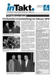 InTakt Ausgabe April 2010 - Chorverband Heilbronn