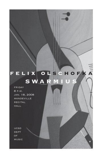 felixolschofka SWARMIUS - UCSD Department of Music Intranet