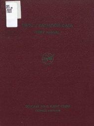 Tiros II radiation data users' manual / by staff members of the ... - NOAA