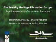 15.BHL Europe.pdf - Opening up the Natural History Heritage for ...