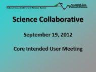 Meeting Presentation - National Estuarine Research Reserve ...