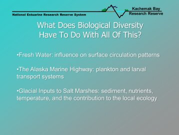 Biological Monitoring - National Estuarine Research Reserve System