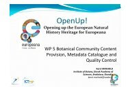 30. WP 5 Botanical Community Content Provision ... - OpenUp!