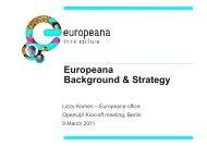 Europeana Background & Strategy - OpenUp!