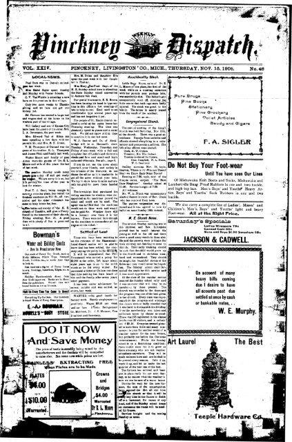 11-15-1906 - Village of Pinckney