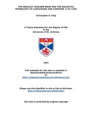 Christopher D King PhD Thesis - University of St Andrews