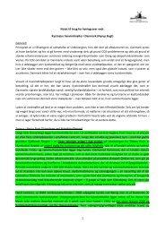 1 Notat til brug for høringssvar vedr. Kystnære havvindmøller i ...