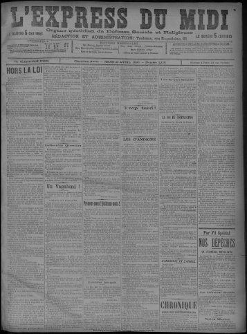 11 avril 1895 - Bibliothèque de Toulouse