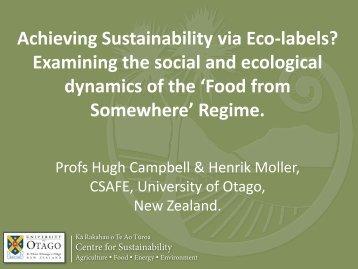 Keynote presentation - IFSA symposium 2012