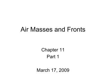 Air Masses and Fronts - NMSU Web Hosting