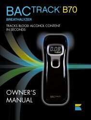 BACtrack B70 Breathalyzer Owner's Manual