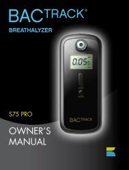BACtrack S75 Pro Breathalyzer Owner's Manual