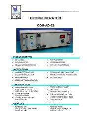 Anseros Ozongenerator COM-AD-02