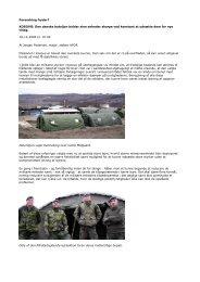 Forandring fryder? KOSOVO: Den danske bataljon holder sine ...