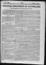 JOURNAL POLITIQUEET LITTÉRAIRE - Bibliothèque de Toulouse