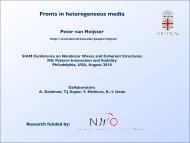 Fronts in heterogeneous media