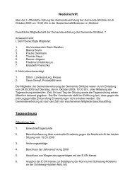 Sitzung vom 06.10.2009 - Amt Büsum