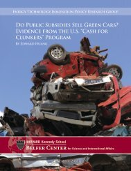 Evidence from the US ?Cash for Clunkers? Program - Belfer Center ...