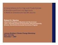 Stavins Presentation for Lehman Climate Workshop - Belfer Center ...