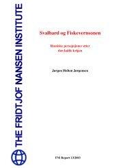 Svalbard og Fiskevernsonen: Russiske persepsjoner etter den kalde ...