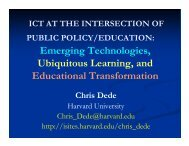 ICT at the Intersection of Public Policy/Education - Belfer Center for ...