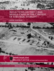 Reflections on the Cuban Missile Crisis in the Context of Strategic ...