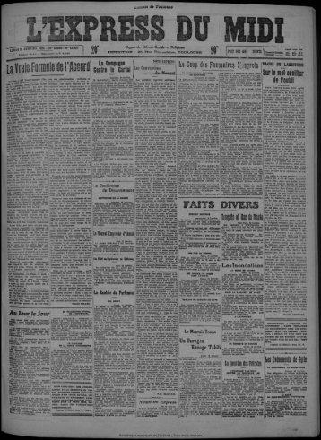 11 janvier 1926 - Bibliothèque de Toulouse