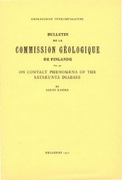 COMMISSION GEOLOGIQUE - arkisto.gsf.fi