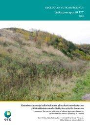 Tutkimusraportti 177 - arkisto.gsf.fi - Geologian tutkimuskeskus
