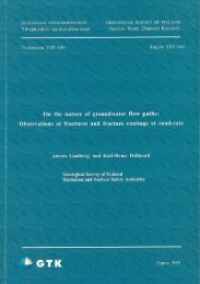 The nature of groundwater flow paths: - arkisto.gsf.fi - Geologian ...