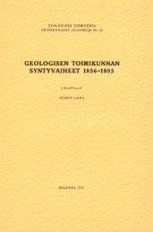 geologisen toimikunnan syntyvaiheet 1856-1885 - arkisto.gsf.fi