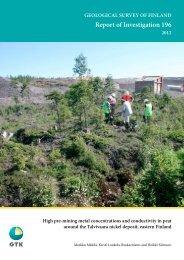 Report of Investigation 196 - arkisto.gsf.fi - Geologian tutkimuskeskus