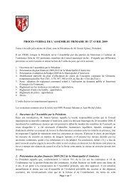 Procès-verbal de l'Assemblée primaire du 27 - Commune d'Anniviers