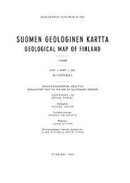 suomen geologinen kartta geological map of finland - arkisto.gsf.fi