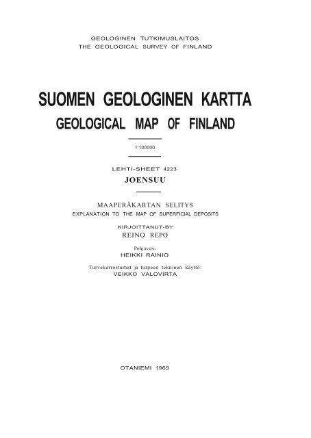 Suomen Geologinen Kartta Arkisto Gsf Fi