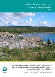 Report of Investigation 180 - arkisto.gsf.fi - Geologian tutkimuskeskus