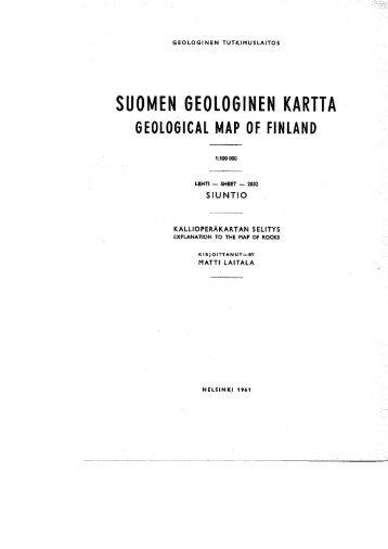 SUOMEN GEOLOGINEN KARTTA - arkisto.gsf.fi