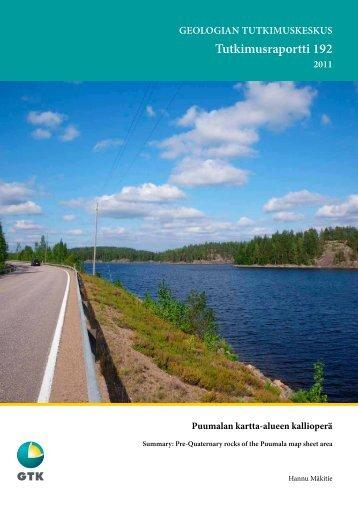 Tutkimusraportti 192 - arkisto.gsf.fi - Geologian tutkimuskeskus