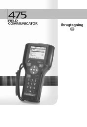 475 Field Communicator Getting Started Guide Danish