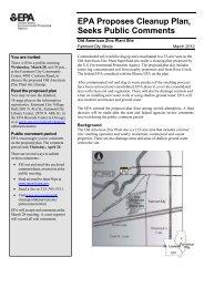 EPA Proposes Cleanup Plan,Seeks Public Comments (PDF) - US ...