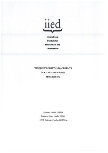 International Institute for Environment and Development - IIED pubs ...