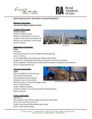 Royal Academy of Arts: Japan 2013: Provisional Programme ...
