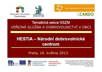 J. Tošner, HESTIA o.s., Národní dobrovolnické centrum