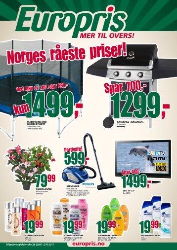 Spar 700,- - Europris