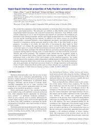Vapor-liquid interfacial properties of fully flexible Lennard-Jones ...