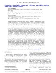 Nucleation and cavitation of spherical, cylindrical, and slablike ...