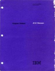 JES3 Messages - Bitsavers