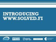 Download presentation (SOLVED launch)