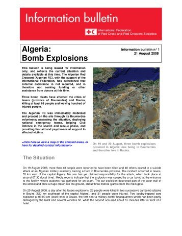 Algeria: Bomb Explosions - International Federation of Red Cross ...