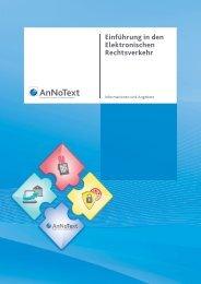 Einführung in den Elektronischen Rechtsverkehr - AnNoText